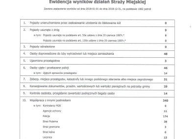 Ewidencja wyników Straży Miejskiej w Rumi w 2018 r. - str. 3